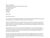 Letter to Aileen Campbell MSP